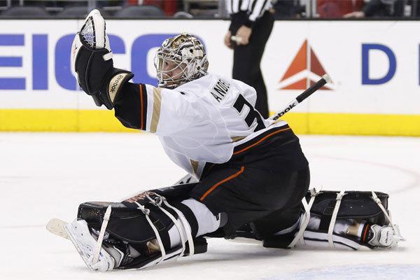 Goalie Frederik Andersen will make his third straight start for the Ducks on Wednesday night.