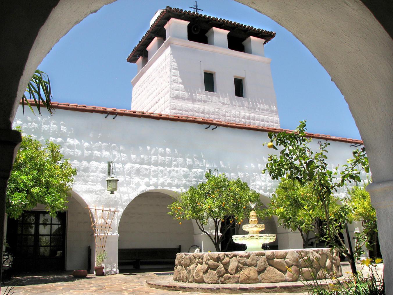 The Flintridge Sacred Heart Academy courtyard.