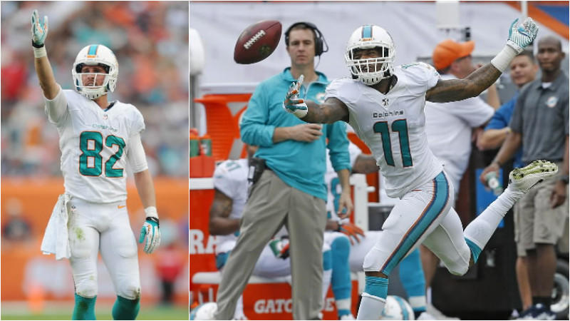 Brian Hartline (left) had a back-to-back 1,000 yard seasons, and Mike Wallace (right) produced a career-high in receptions last year. But the Dolphins offense is missing a big red zone target, and playmakers that produce run-after-catch yards. Knee issues to Hartline, Brandon Gibson and Armon Binns also makes this position a question mark moving forward. The unit has depth considering Rishard Matthews, who caught 41 passes for 448 yards and two touchdowns last year, is the team's fourth best receiver. But receiver is the deepest position in the 2014 NFL draft.