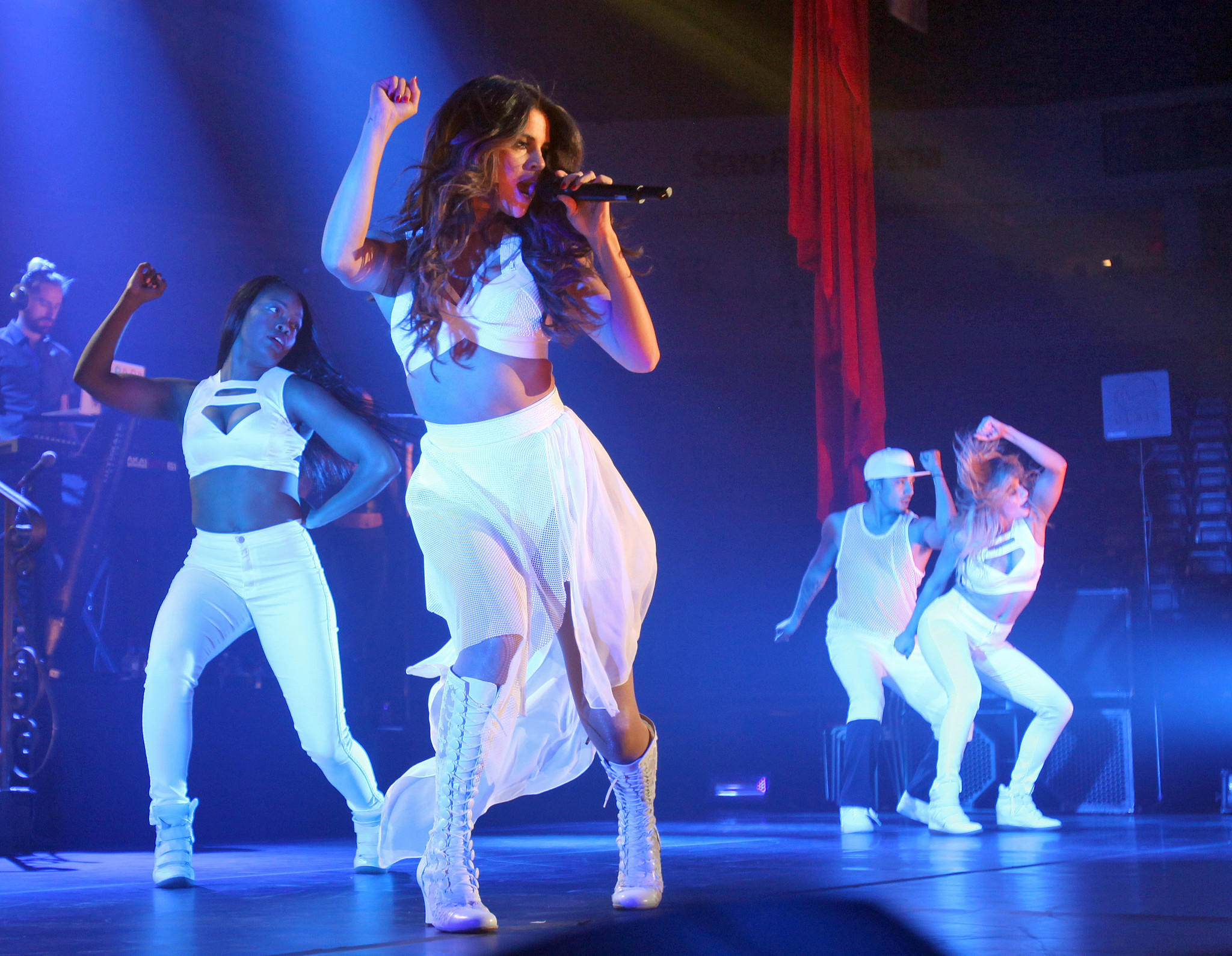Selena Gomez performs at Borderfest in Texas last month. A man has been convicted of trespassing on a Calabasas property the singer owns.