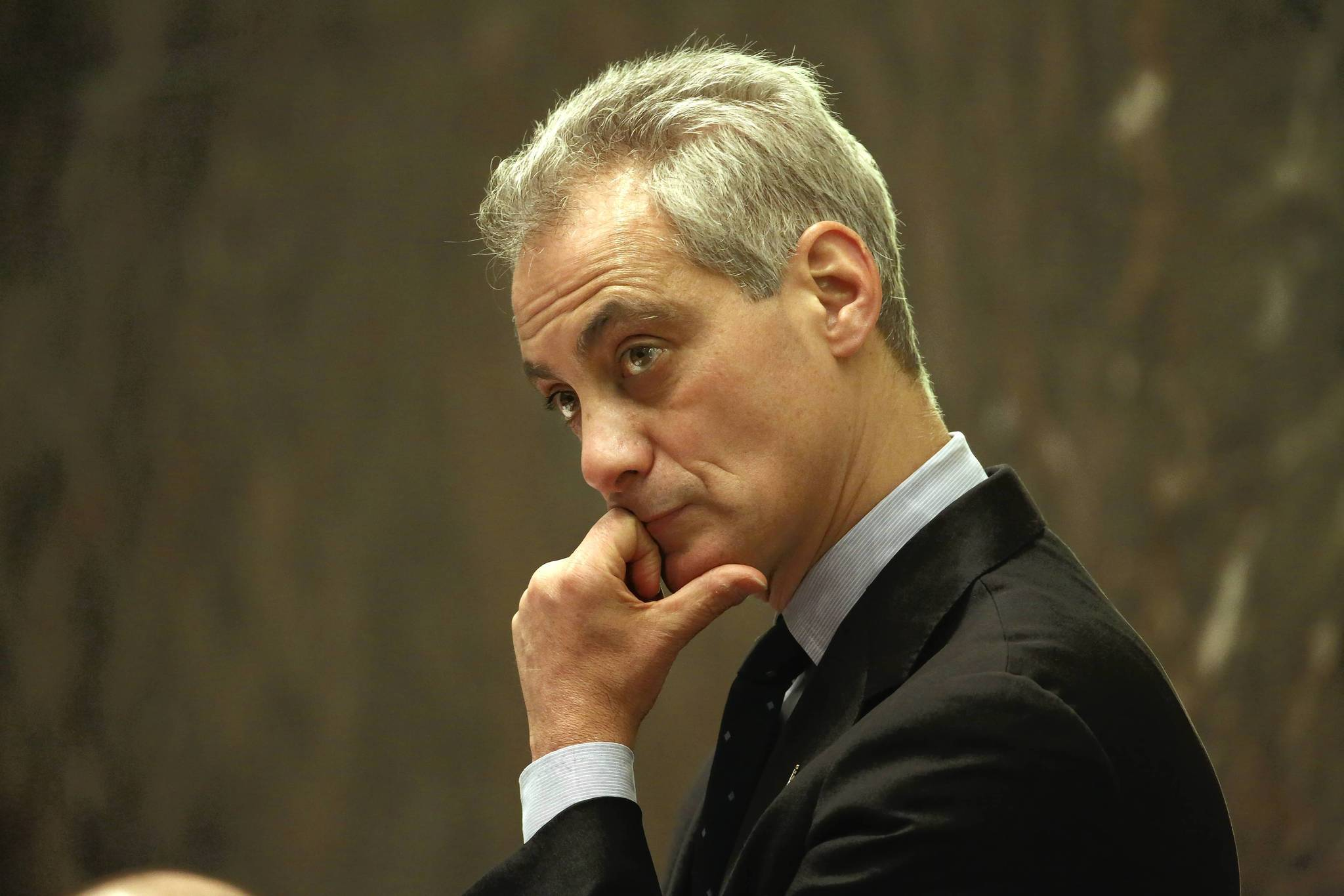 While Mayor Rahm Emanuel presided over a City Council meeting on Wednesday, his pension plan to raise city property taxes and cut city worker retirement benefits stalled in Springfield, at least for a day.