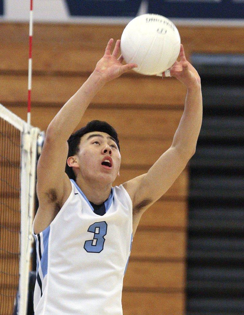 Chris Han and the Crescenta Valley High boys' volleyball team swept Glendale on Wednesday.