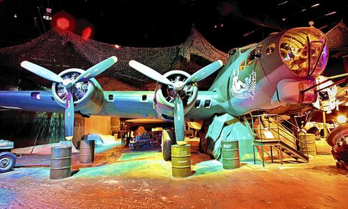 A B-17 sits on display at Fantasy of Flight in Polk City