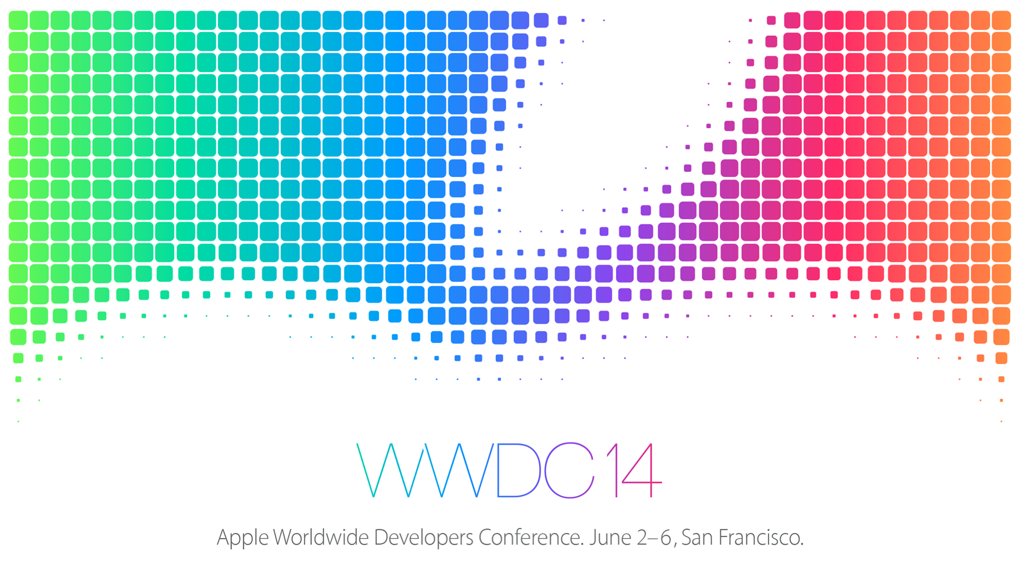 A logo for Apple's Worldwide Developers Conference.