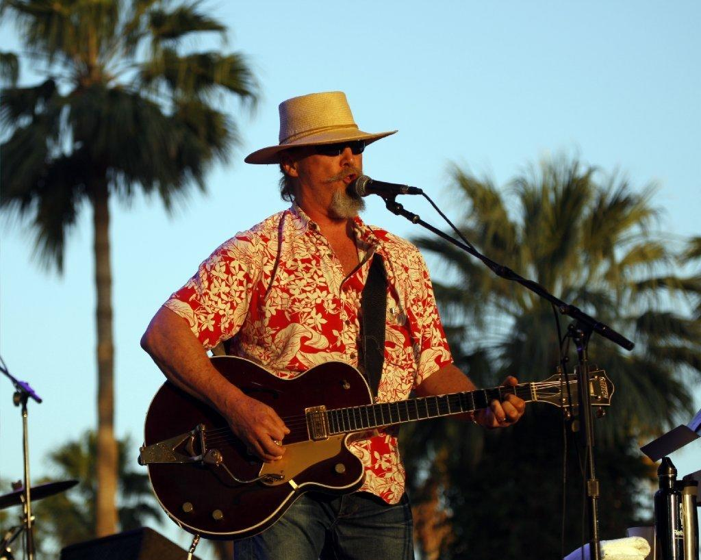 Jeff Bridges & the Abiders play at the Stagecoach Country Music Festival in Indio.