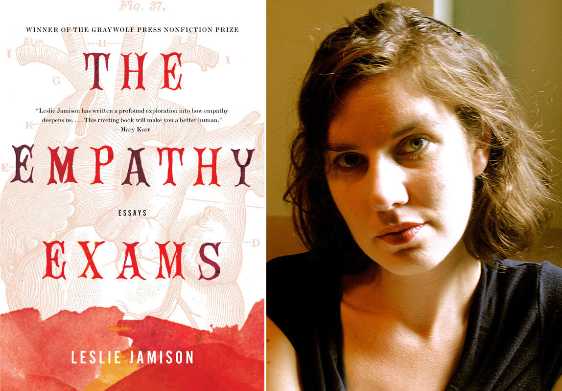"The cover of ""The Empathy Exams"" and author Leslie Jamison."