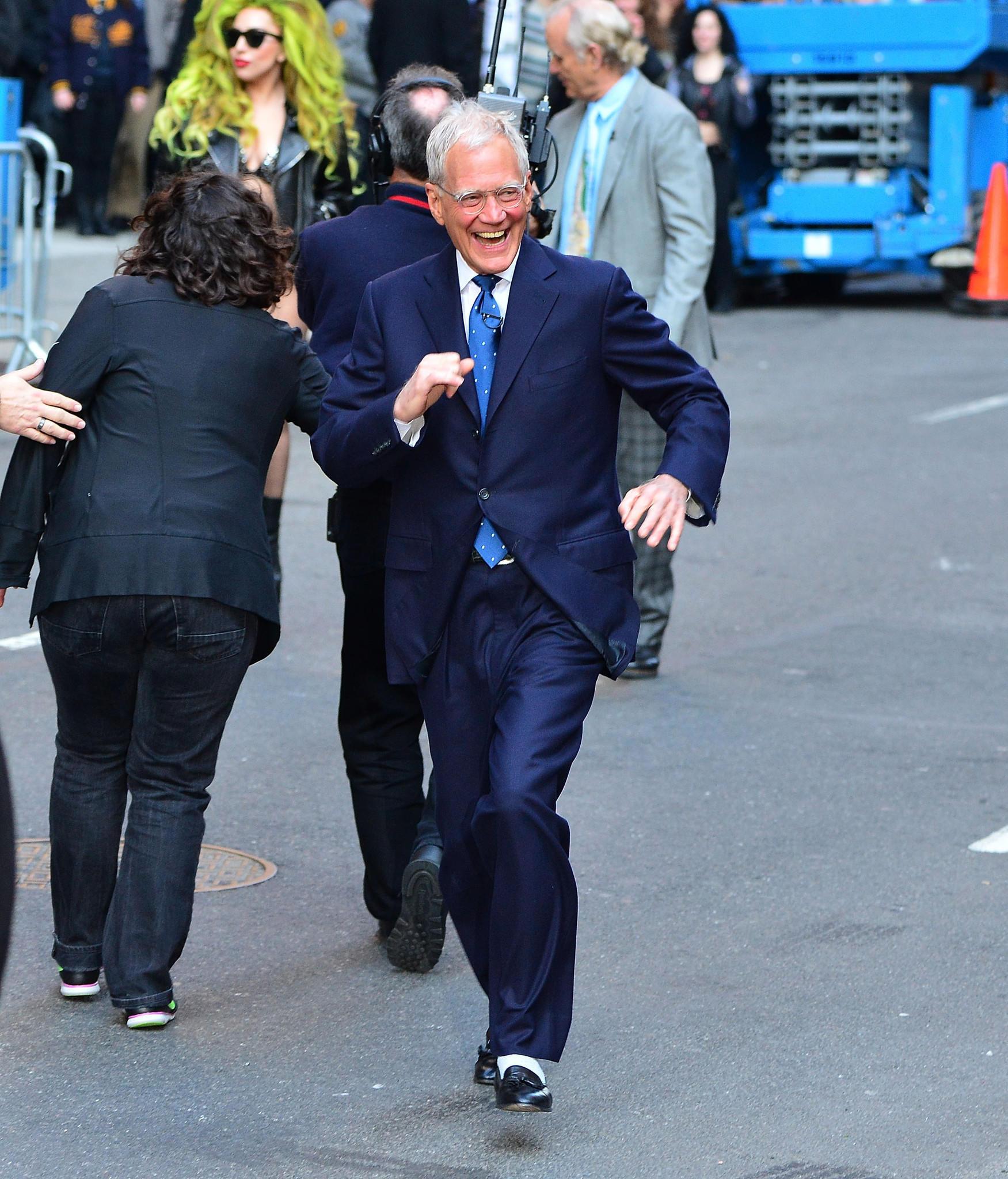 David Letterman arrives at Roseland Ballroom in New York City.
