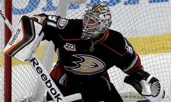 Ducks rookie goalie Frederik Andersen has posted a 19-5 record with a 2.27 goals-against average this season.