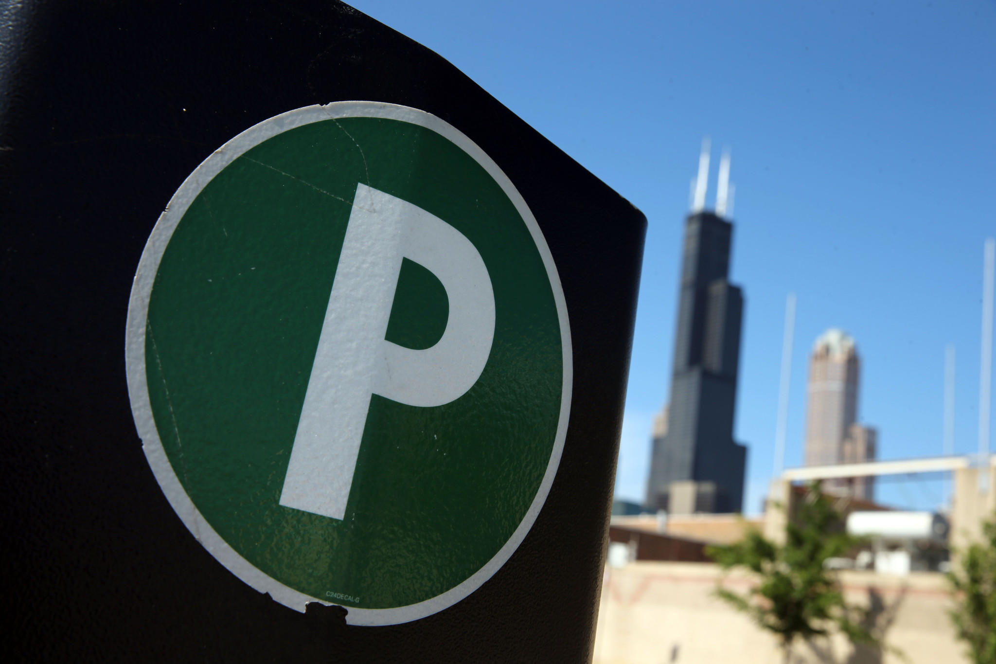 A parking meter on Des Plaines Avenue near Taylor Street on June 3, 2013.