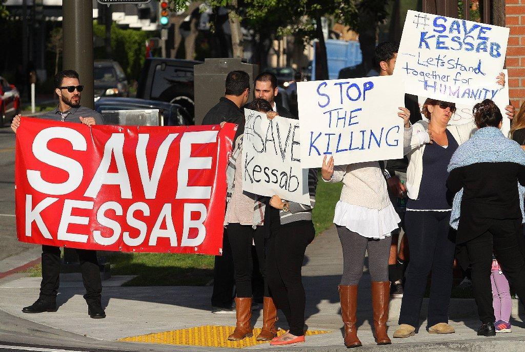 Nearly 50 people gathered to bring attention to an the takeover of Kessab, Syria at the Armenian Consulate in Glendale on the corner of Central Avenue and Lexington Drive.