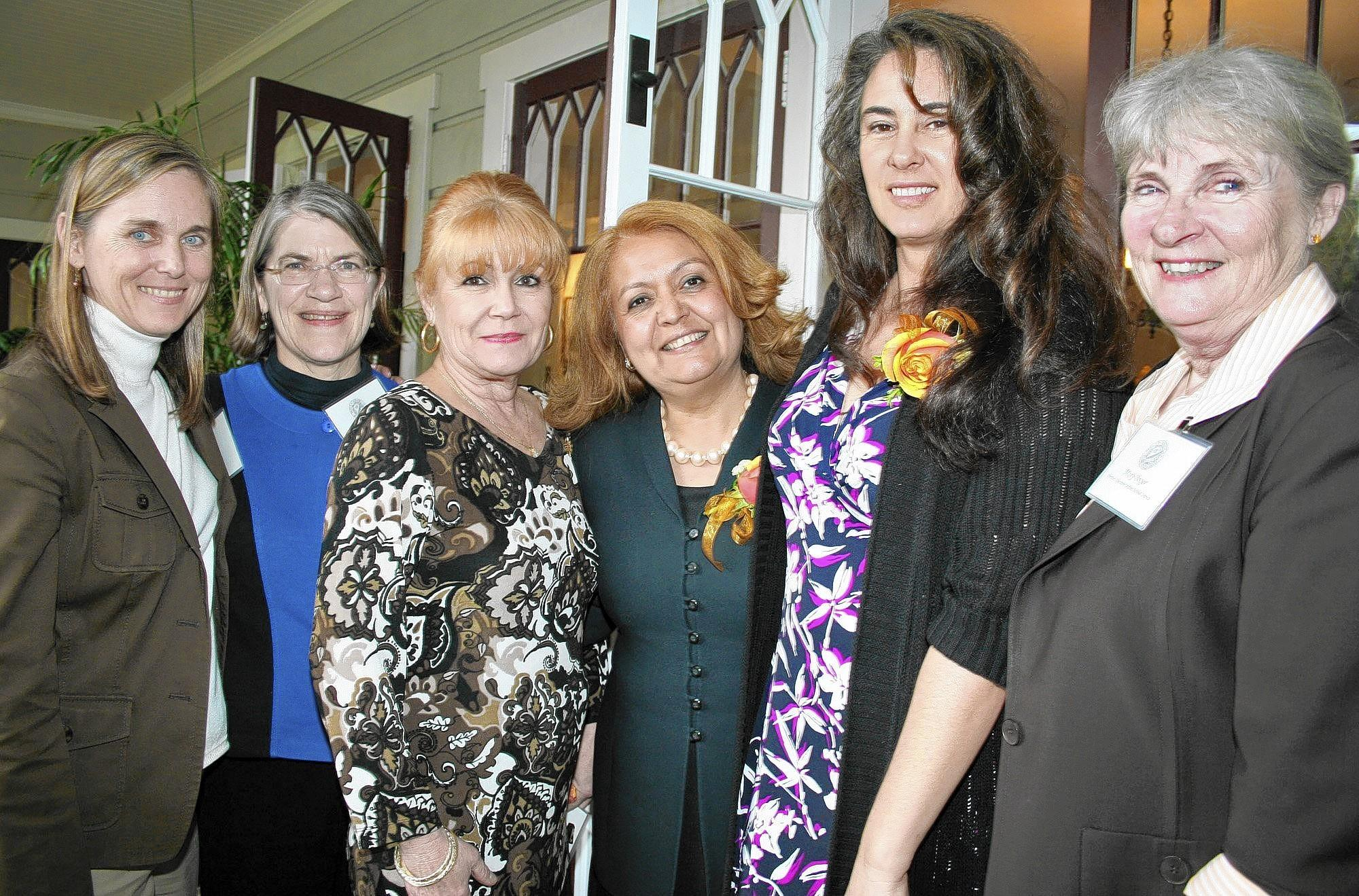Mary Boger (extreme right) recently assumed the road of Glendale Unified School District president. She is pictured here with fellow board members, from left, Christine Walters, Joylene Wagner and Mary Boger (extreme right) join Mercy Velazquez and Women of the Year Amy Navarrete and Dominique Evans-Bye.