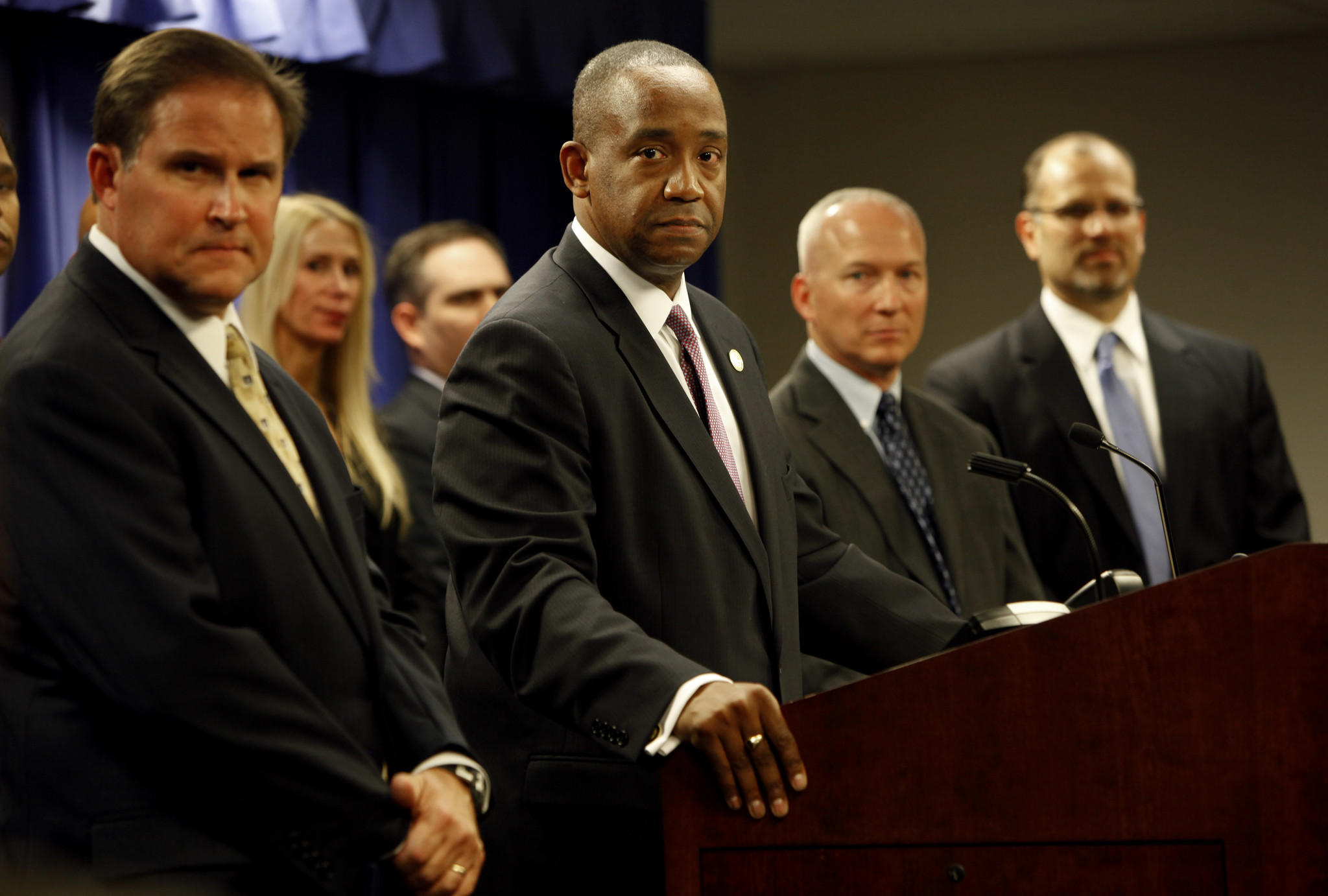 President Barack Obama on Thursday tapped U.S. Atty. Andre Birotte Jr., center, to serve on the federal bench in the central district of California.