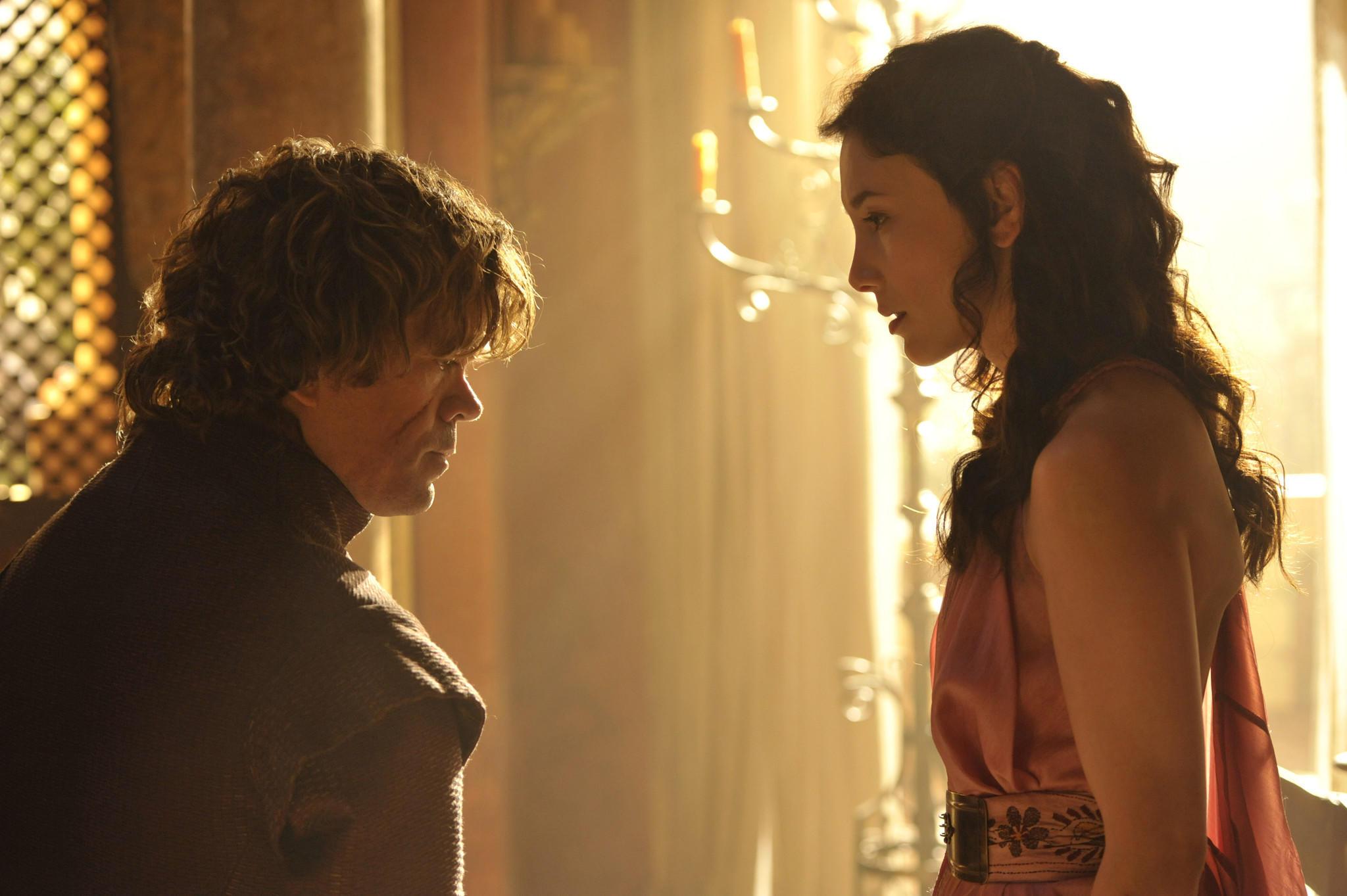 """Peter Dinklage and Sibel Kekilli in """"Game of Thrones."""""""