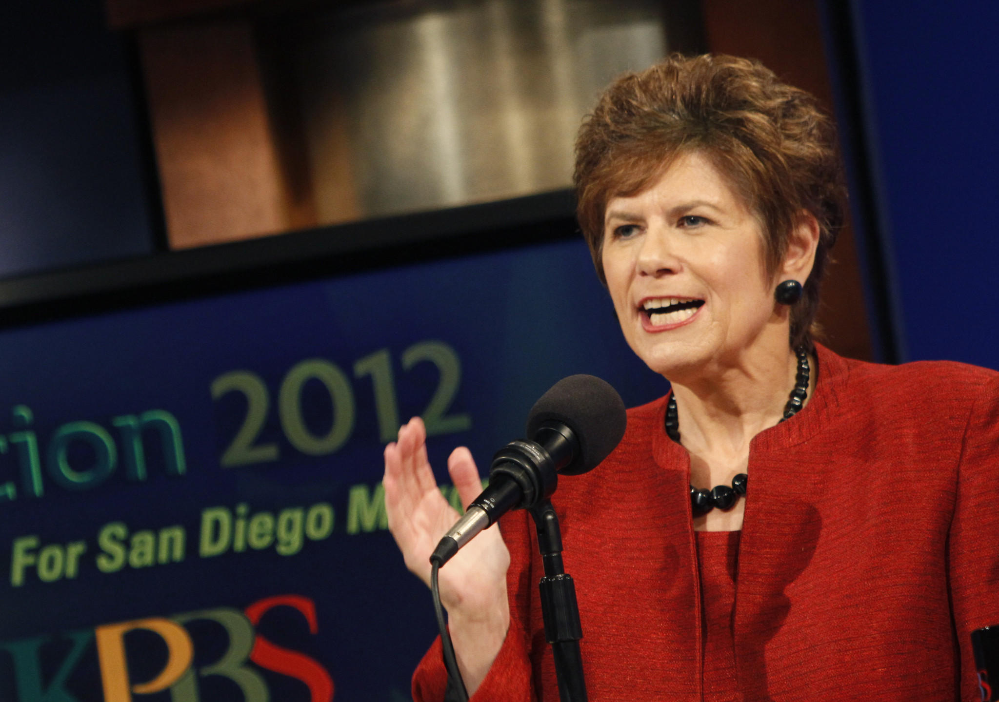 San Diego County Dist. Atty. Bonnie Dumanis during her 2012 mayoral campaign. Now funding of that campaign is being investigated.