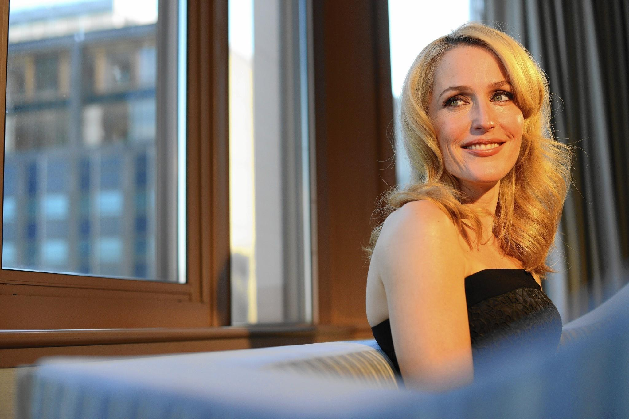 Gillian Anderson at the London Hotel in Manhattan, NY.
