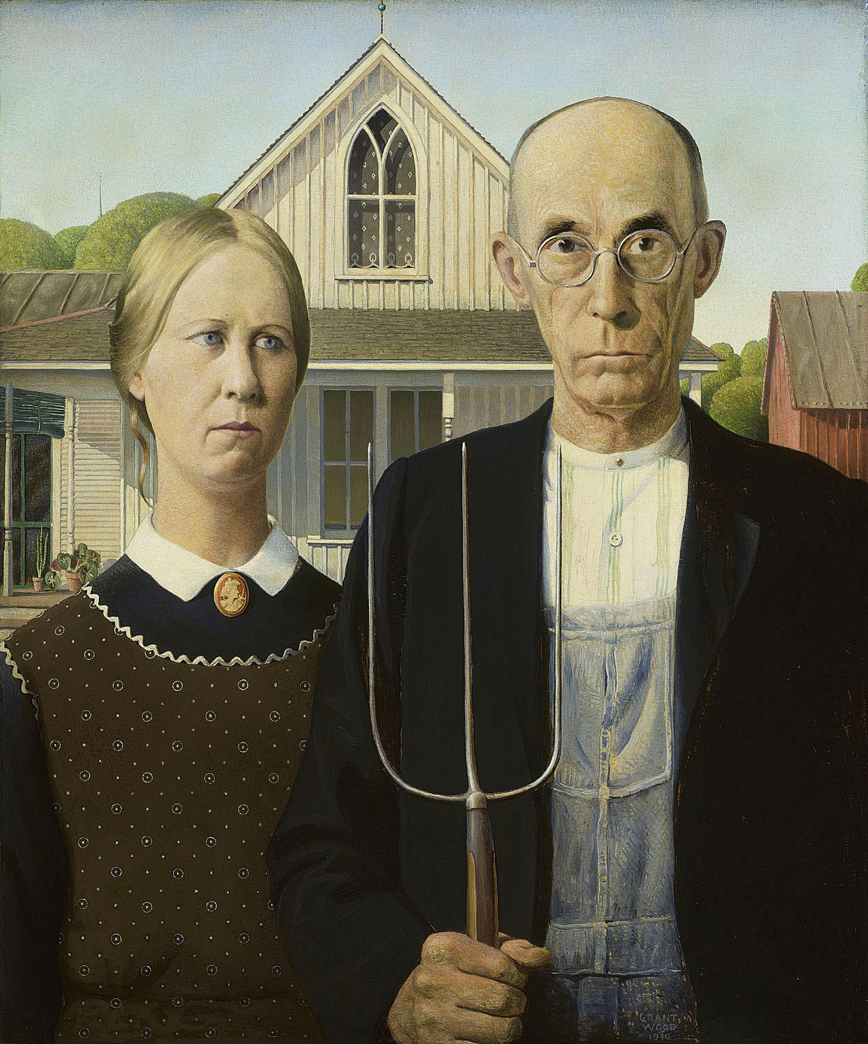 """American Gothic"" by Grant Wood."