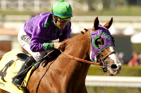 Jockey Victor Espinoza guides California Chrome to a wire-to-wire victory in the San Felipe Stakes last month at Santa Anita Park.