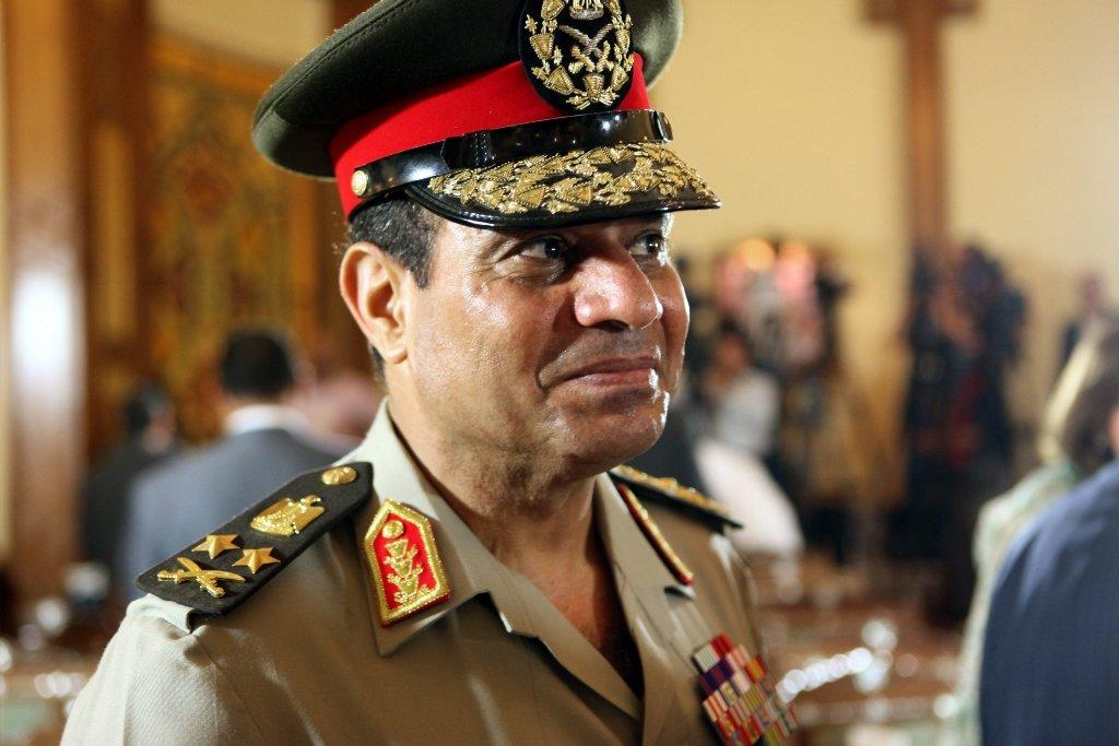Abdel Fattah Sisi, seen here in 2012 when he was Egypt's defense minister, was leader of the coup last year that toppled the democratically elected Islamist president Mohamed Morsi. Sisi has since resigned as defense minister and has announced that he will run for president.