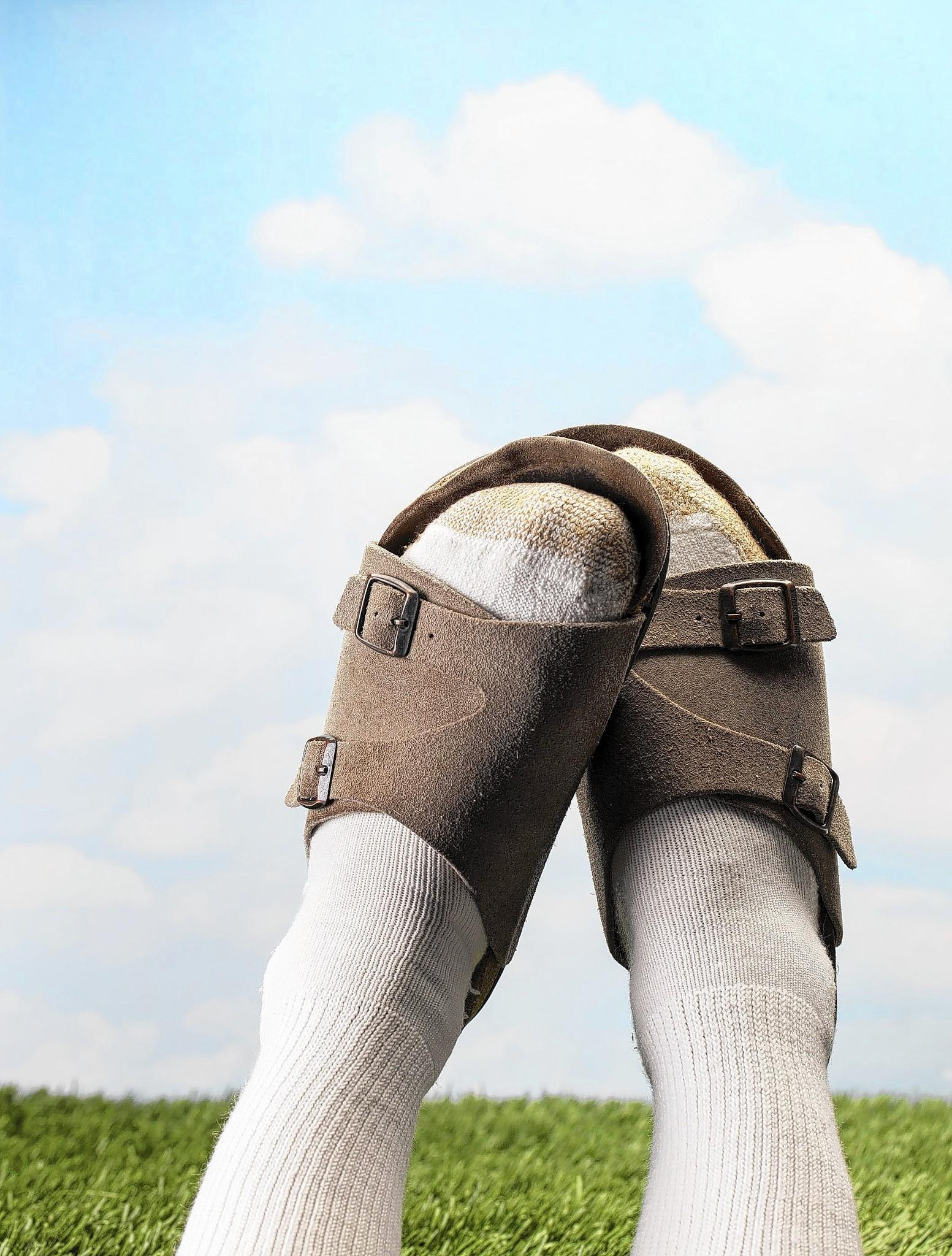 Socks with sandals? Only if you're fashionable.
