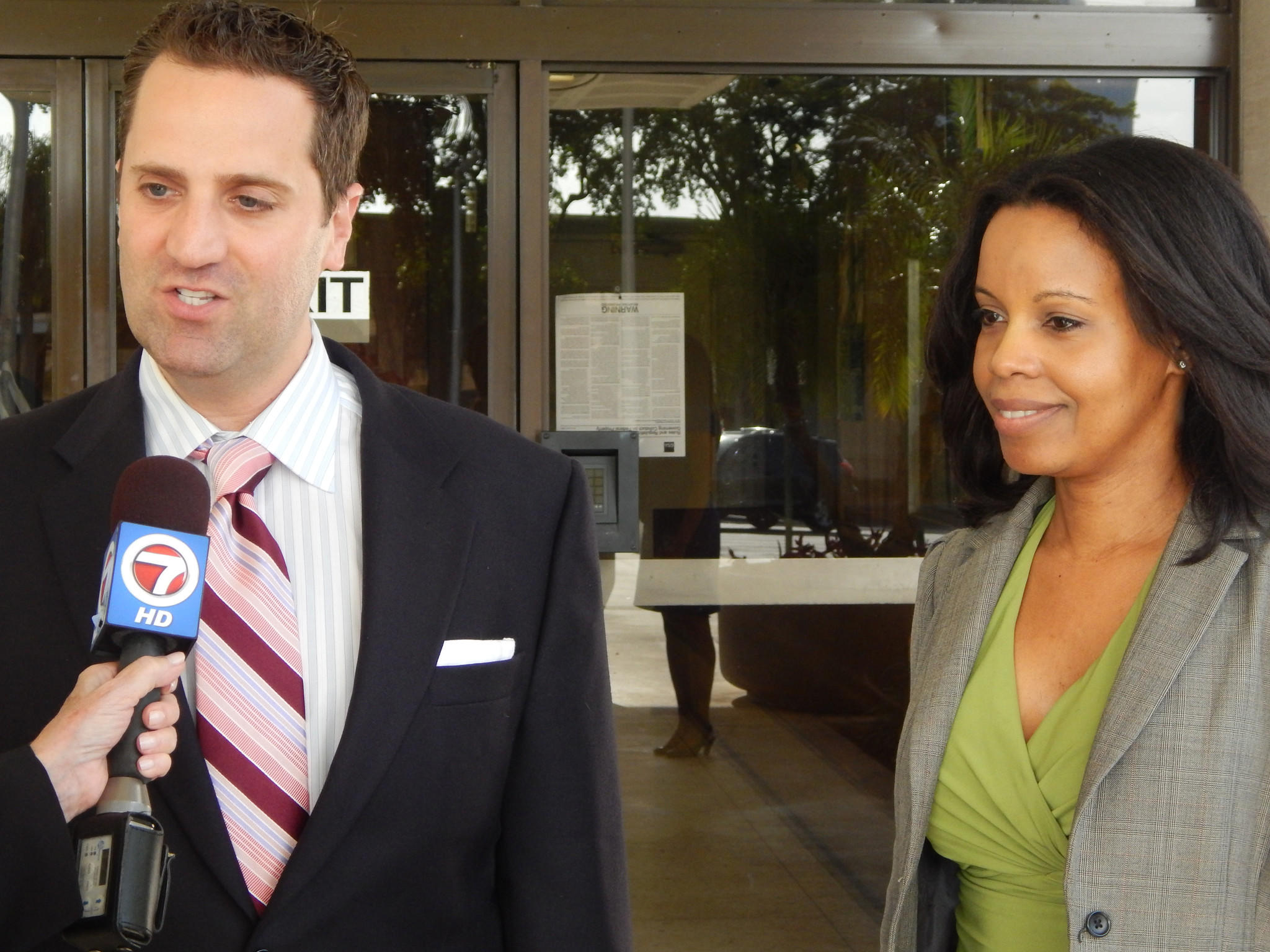 Dr. Cynthia Cadet, of Parkland, was sentenced to 6 1/2 years in federal prison Friday for money laundering connnected to her employment at pill mills in Broward and Palm Beach County. She is shown in this 2013 photo with her defense lawyer Michael D. Weinstein Rafael Olmeda, Sun Sentinel