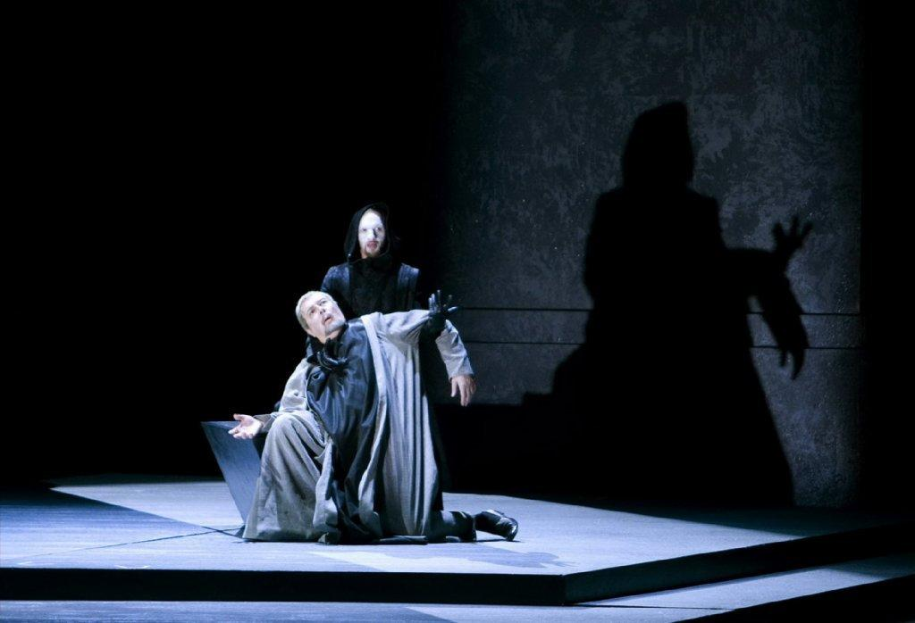 """A scene from San Diego Opera's production of """"Murder in the Cathedral."""""""