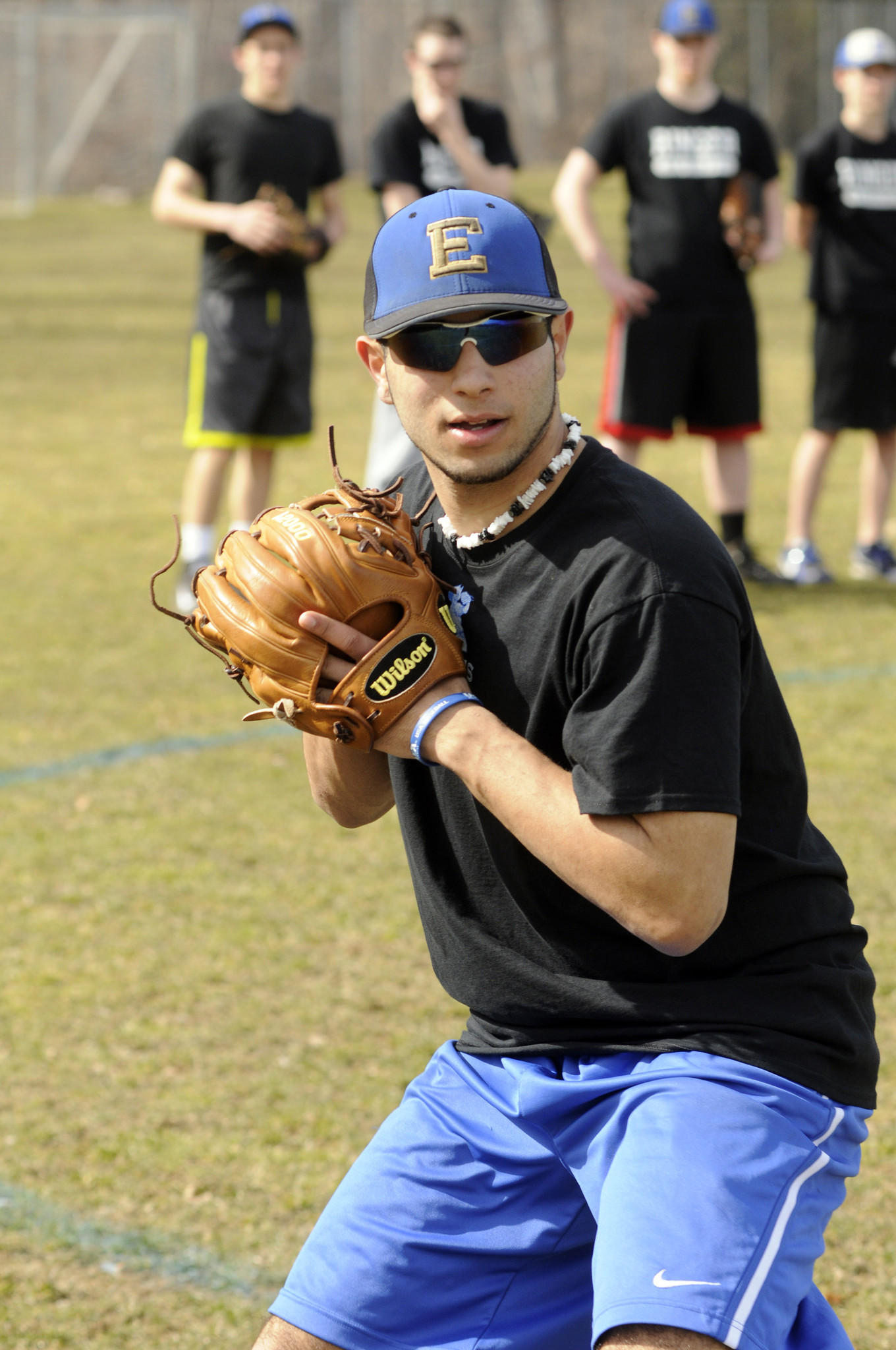 EAST HAMPTON--4/3/14--East Hampton High baseball player Marvin Gorgas at practice at the school April 3.