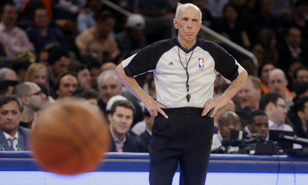 NBA referee Dick Bavetta worked his 2,633rd consecutive game assignment Wednesday.