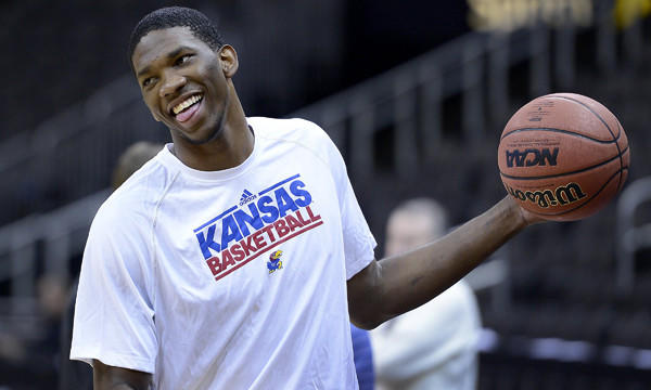 Kansas center Joel Embiid is slated to be one of the top picks of the 2014 NBA draft.