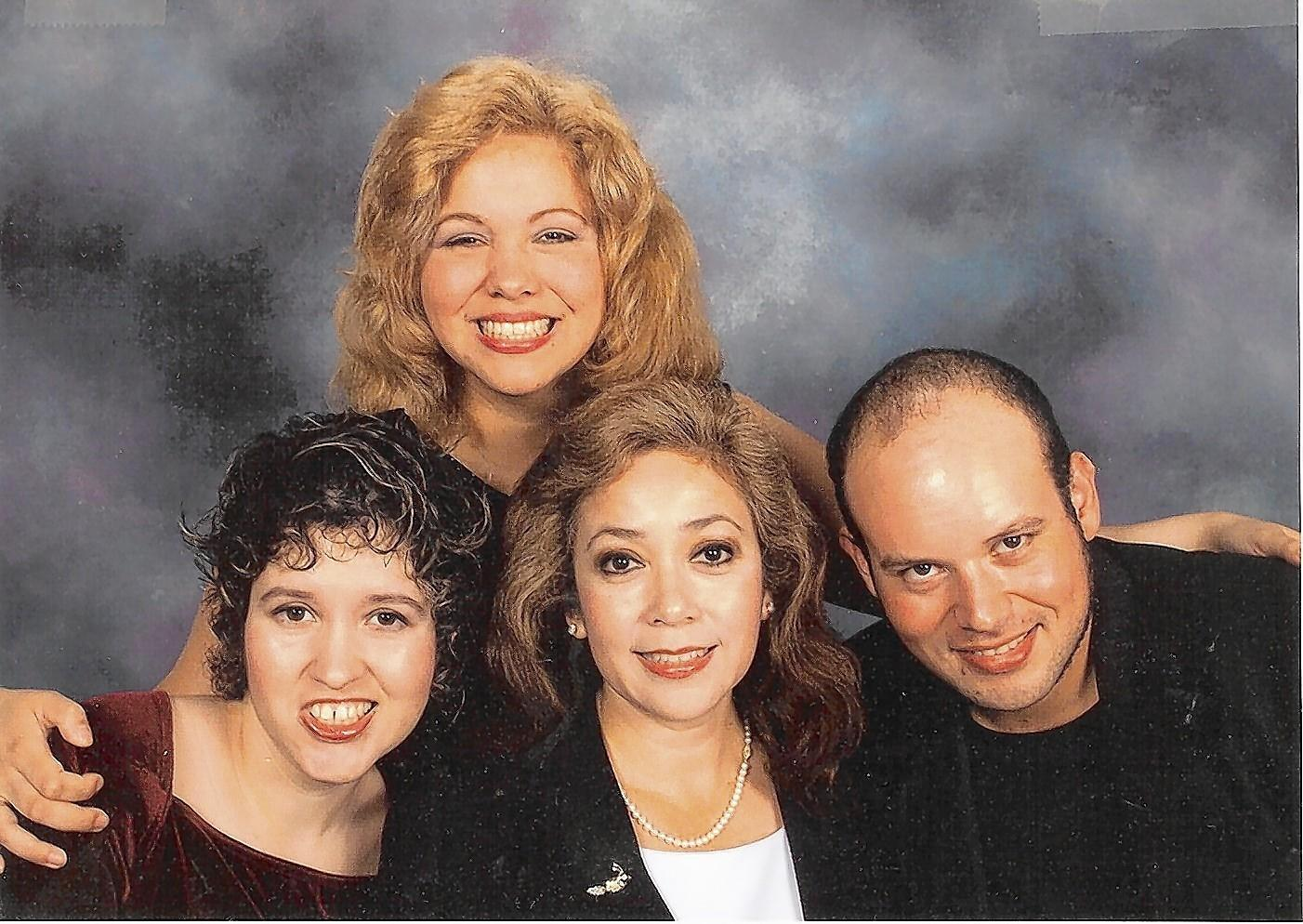 Frances Saldana poses for a family portrait with her children, Margie, Michael and Marie. Marie Portillo, whose Huntington's disease symptoms started when she was 15, died in 2009 at age 32. Margie Hayes died in February of this year at age 44. Michael Portillo, who is 41, is in a care facility. Frances wonders after each visit with him if it will be her last.