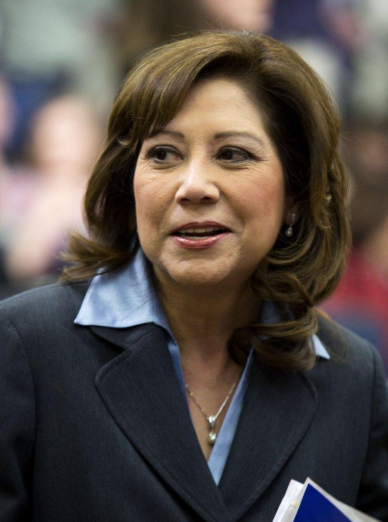 Former Labor Secretary Hilda Solis is running for a seat on the Los Angeles County Board of Supervisors.