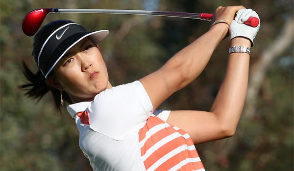 Michelle Wie, looking for her first LPGA major championship, will enter Sunday's final round tied for the lead at the Kraft Nabisco Championship with 19-year-old Lexi Thompson at 10-under-par 206.