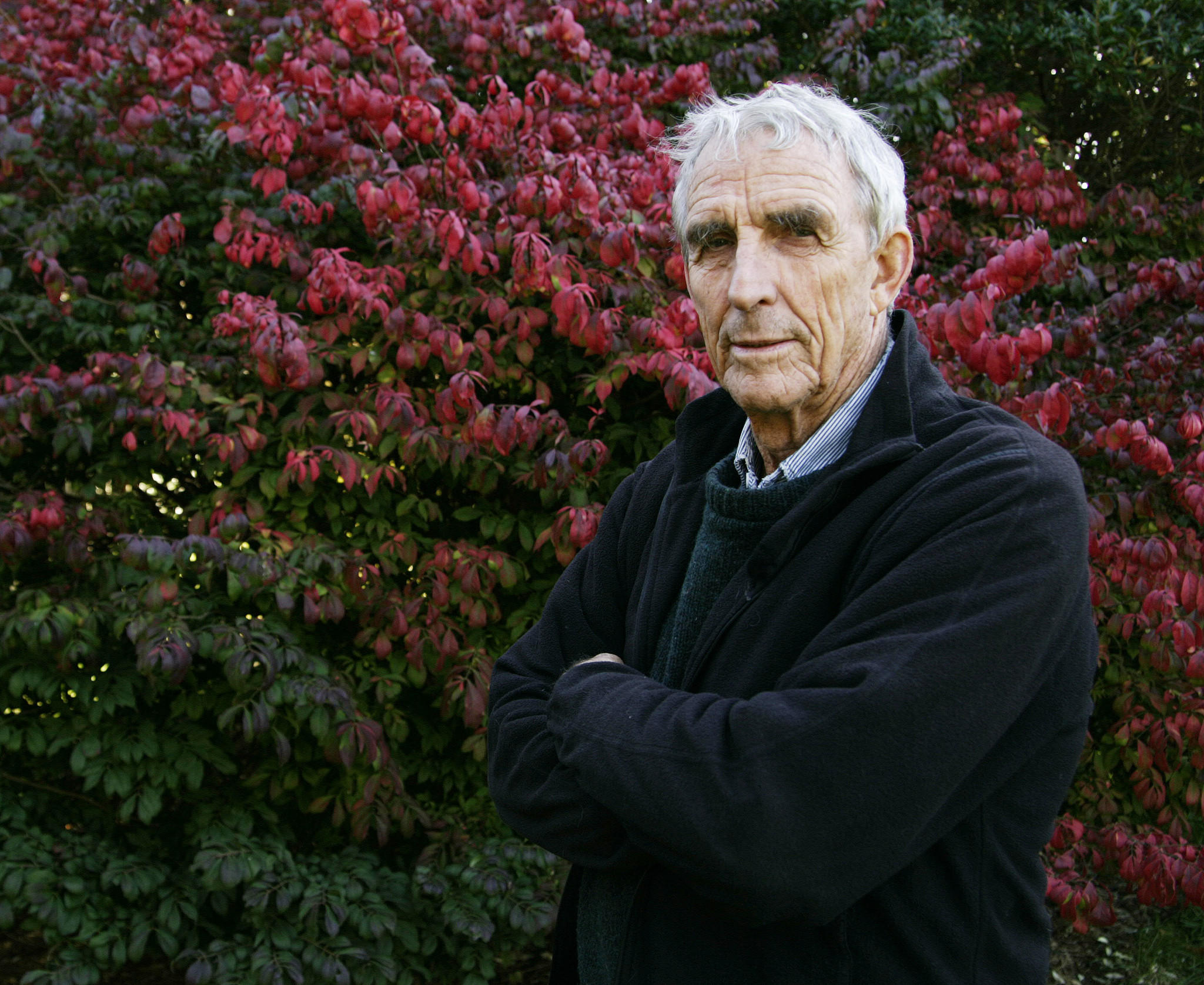 Writer Peter Matthiessen in 2004 at home in Sagaponack, N.Y., where he died Saturday. He was 86.