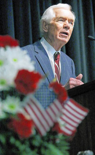 Sen. Thad Cochran (R-Miss.), facing a tough primary challenge from the tea party, recently told the Pearl, Miss., Chamber of Commerce that government x{201c}has played an important role in creating the environment that sustains economic growth and job creation.x{201d}