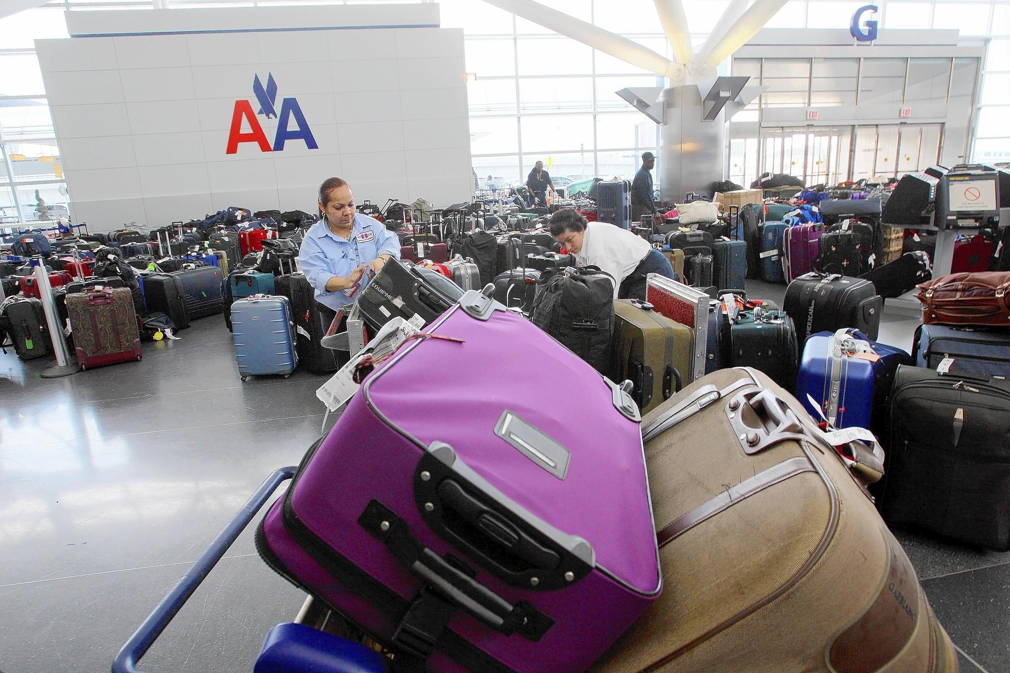 Of all mishandled bags, 81% were simply delayed, 16% were damaged or pilfered and 3% were declared lost or stolen and never found, a new study found. Above, luggage is sorted at John F. Kennedy International Airport in New York.