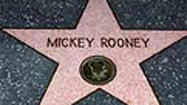 Mickey Rooney on the Walk of Fame