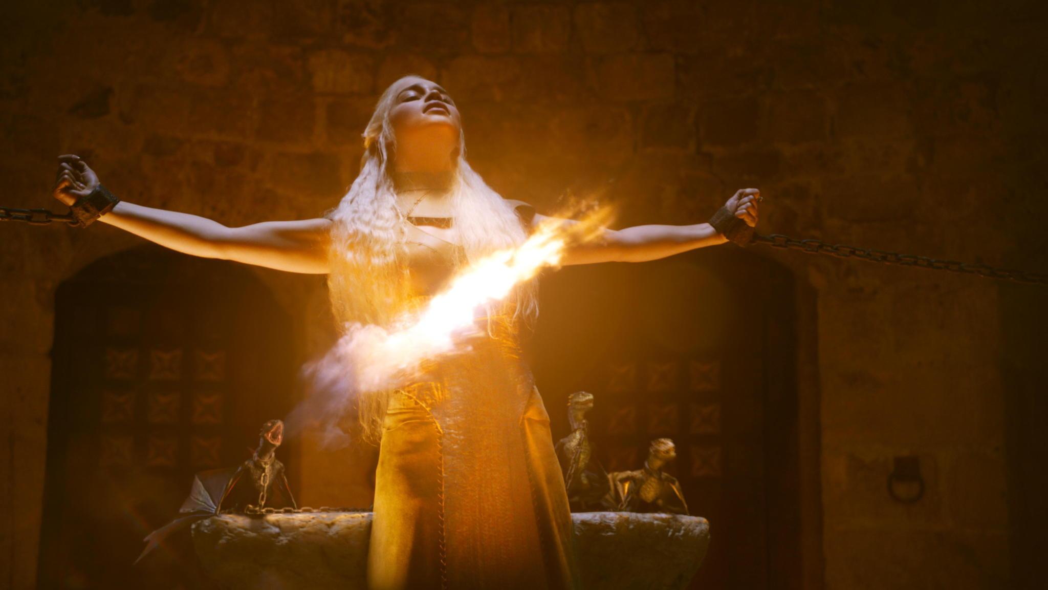 "Emilia Clark in a scene from ""Game of Thrones."""