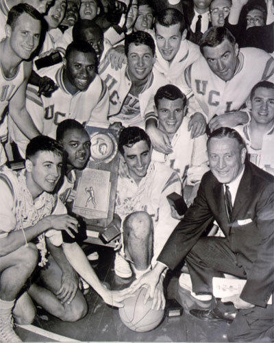Coach John Wooden won his first national championship with UCLA in 1964.