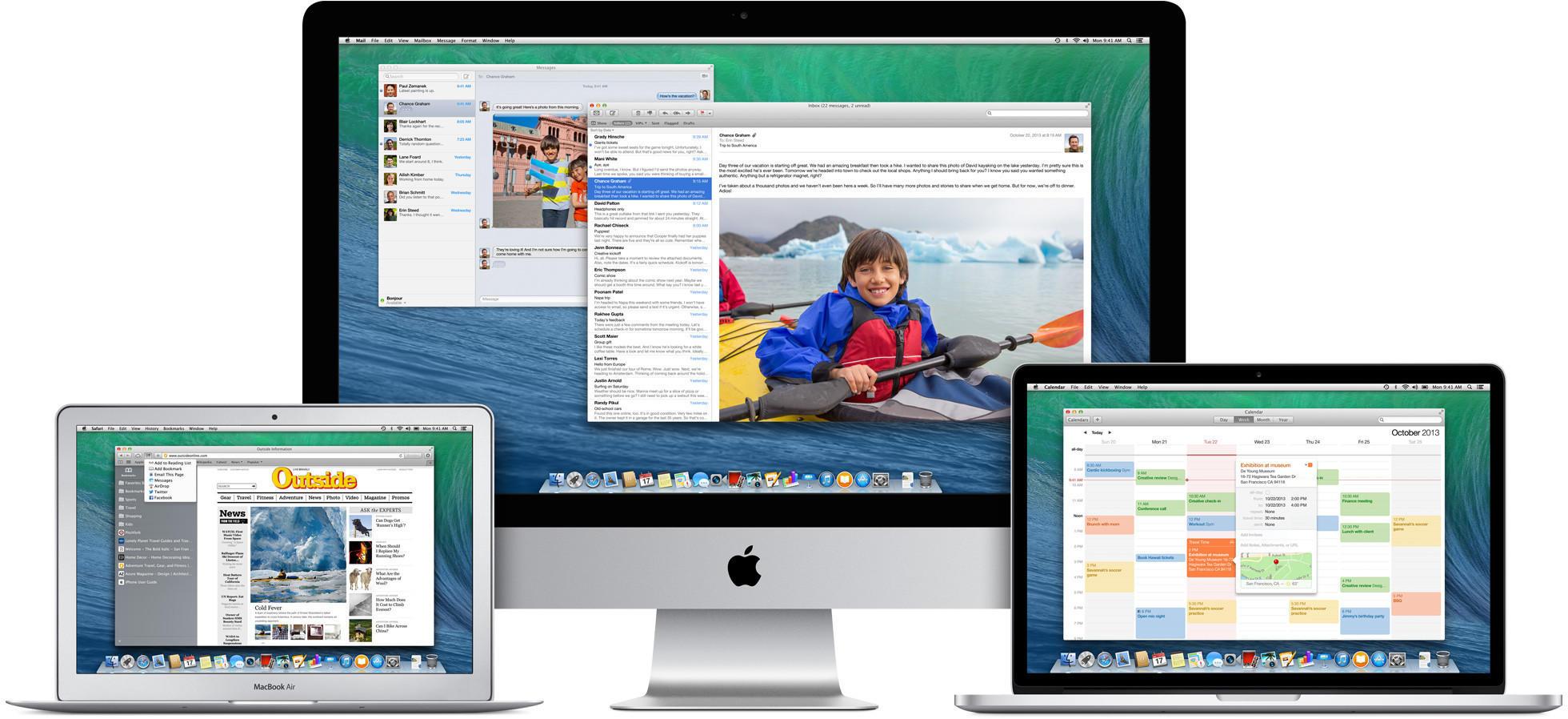 Apple laptop and desktop computers.