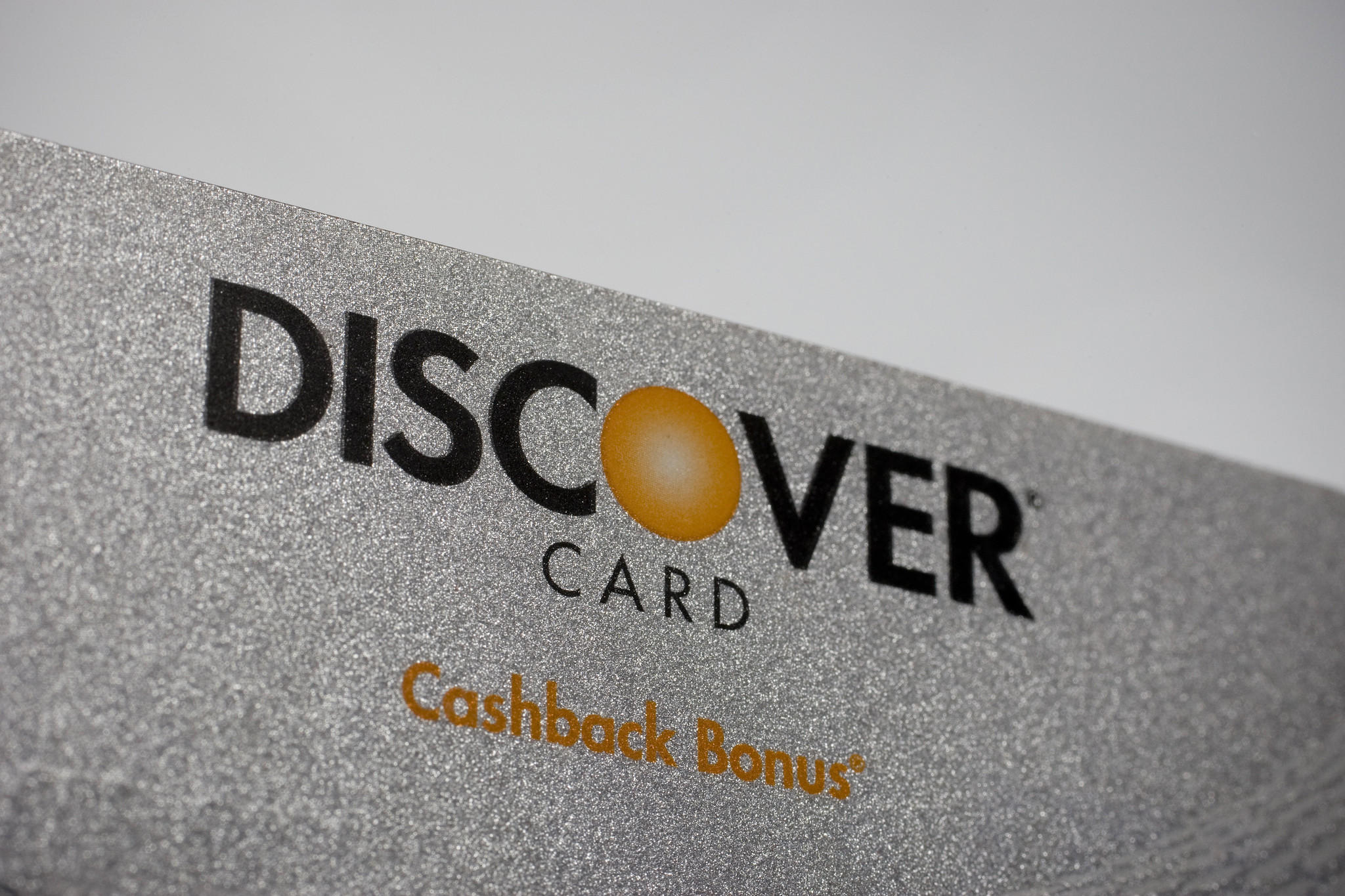 A Discover Financial Services credit card.
