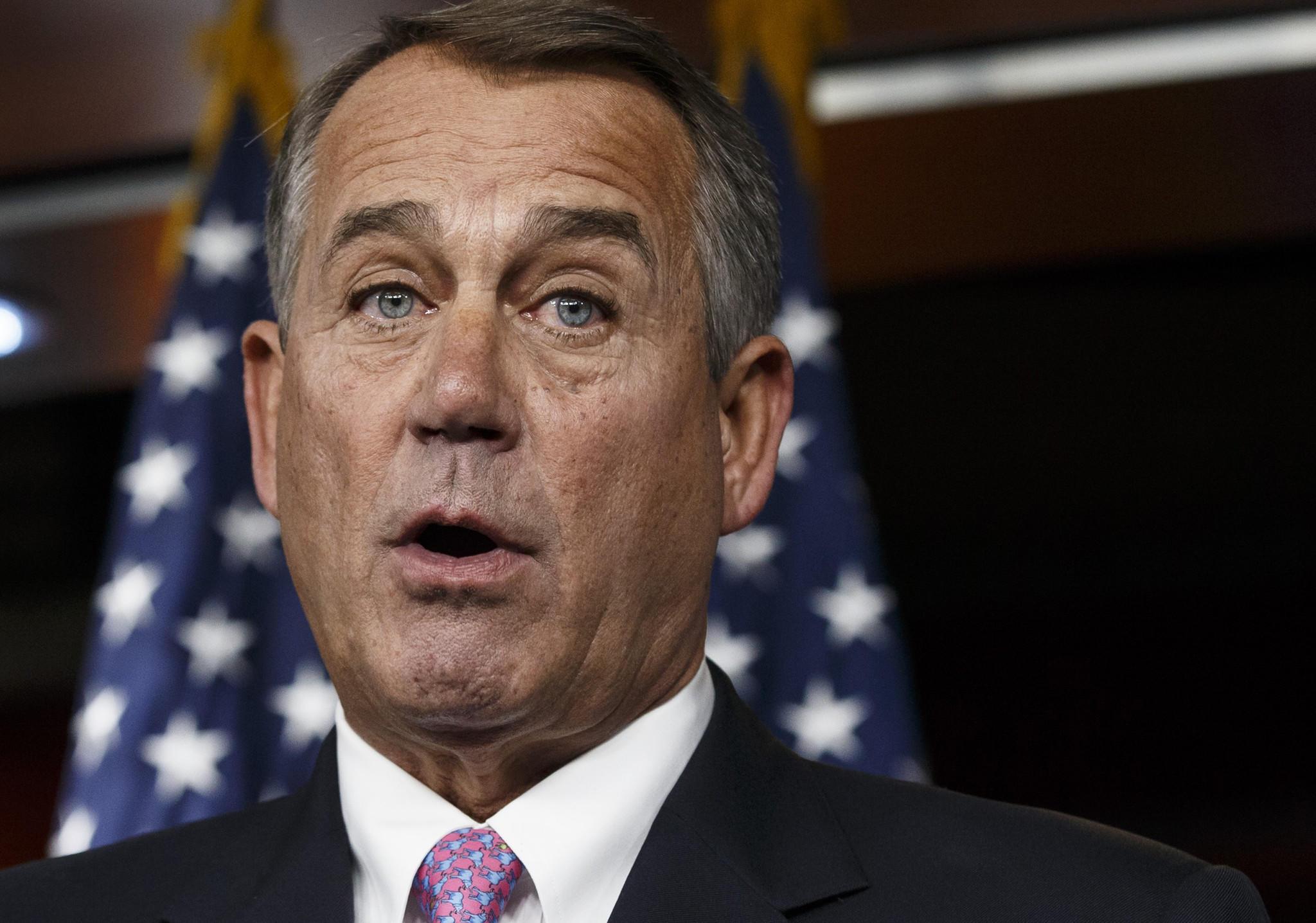 House Speaker John A. Boehner says the Senate bill to extend jobless benefits is unworkable.