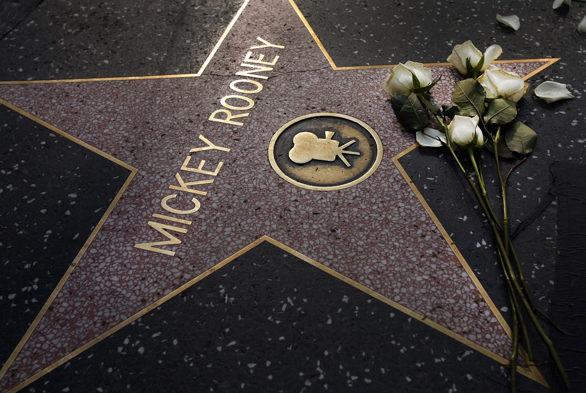 A floral tribute lies on Mickey Rooney's star on the Hollywood Walk of Fame on Monday. Is today's entertainment industry inhospitable to development of a similarly multitalented performer?