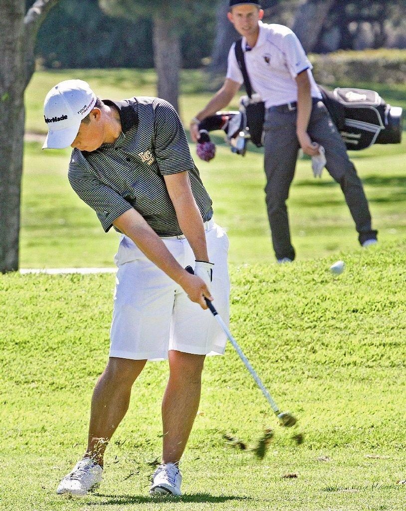 Collin Morikawa and the La Canada High golf team defeated St. Francis on Monday.