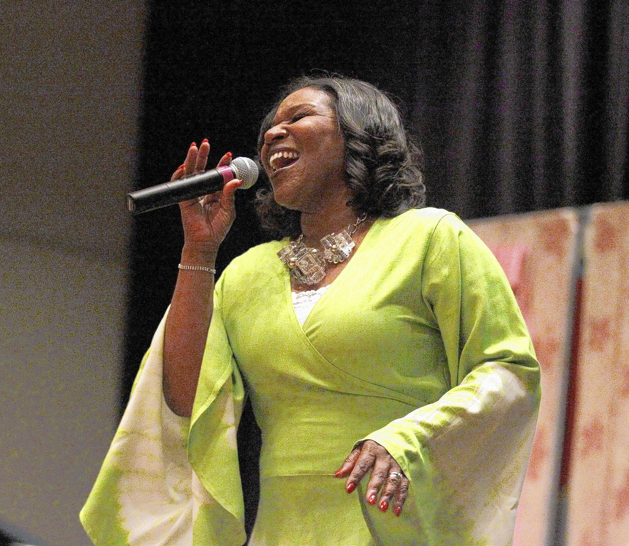 Tammy McCann, performs at the South Shore Cultural Center Jazz Festival.
