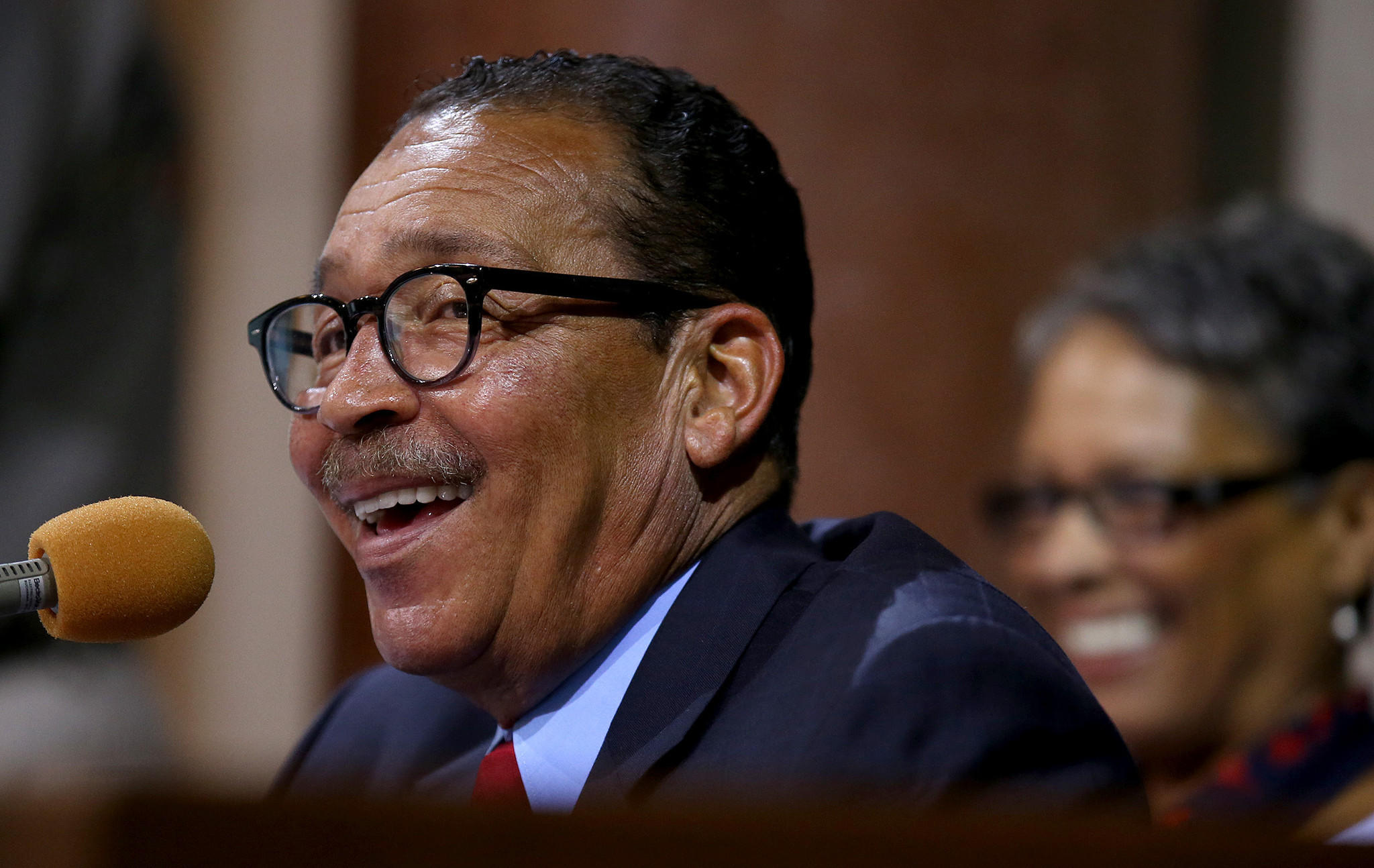 The Los Angeles City Council voted unanimously Tuesday to plug a financing gap that threatened community programs once paid for with federal dollars. Above, a file photo of council President Herb Wesson.
