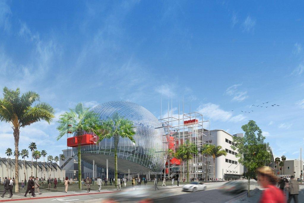 An architectural rendering of Renzo Piano and Zoltan Pali's design for the new $300-million Academy Museum in Los Angeles.