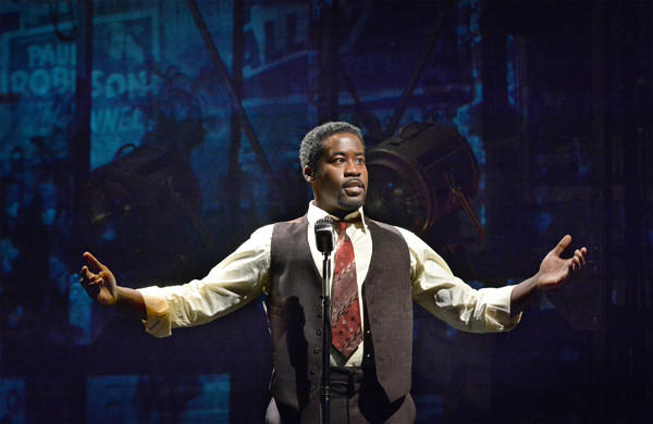 "Daniel Beaty portrays Paul Robeson in ""The Tallest Tree in the Forest"" at the Mark Taper Forum."
