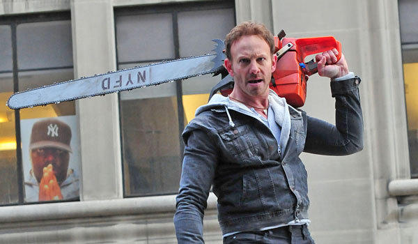 """Ian Ziering battles sharks in the sky once again in """"Sharknado 2."""""""