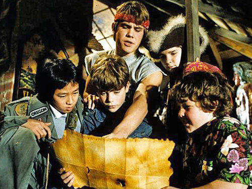 "A still from the 1985 classic ""The Goonies."""