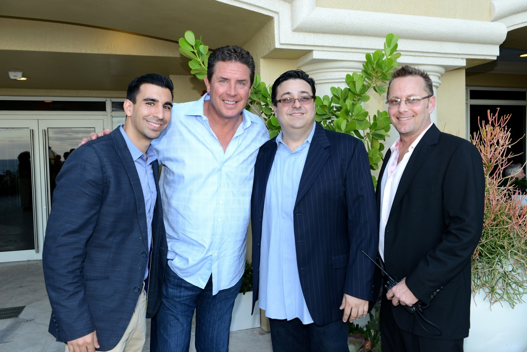 Celeb-spotting around South Florida - Danny Dapuzzo of Society 8 Hospitality Group, Dan Marino, Steven Dapuzzo and Alan Myer of Society 8 Hospitality Group