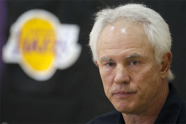 The Lakers have given a multiyear contract extension to General Manager Mitch Kupchak, shown in 2012.